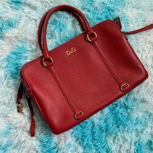 Dolce & Gabbana Red Mini Lily Twist Purse